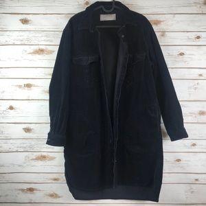 Zara Basic Black Corduroy oversized Jacket (binA3)